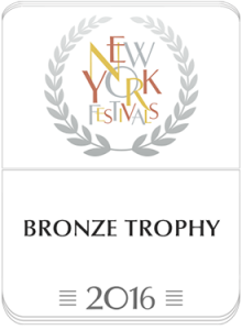 New York Festival's Best Radio Programme bronze award logo