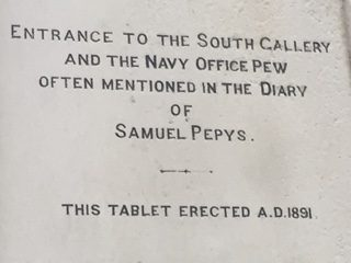 Where Samuel Pepys went to church.