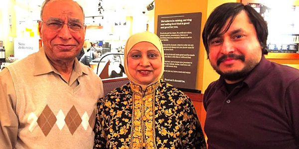 Jamil and Yasmeen Mustapha, Husband and wife with Tharik Hussain, Morgantown, West Virginia.