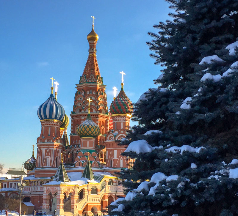 St Basil's Cathedral in Red Square (Moscow).